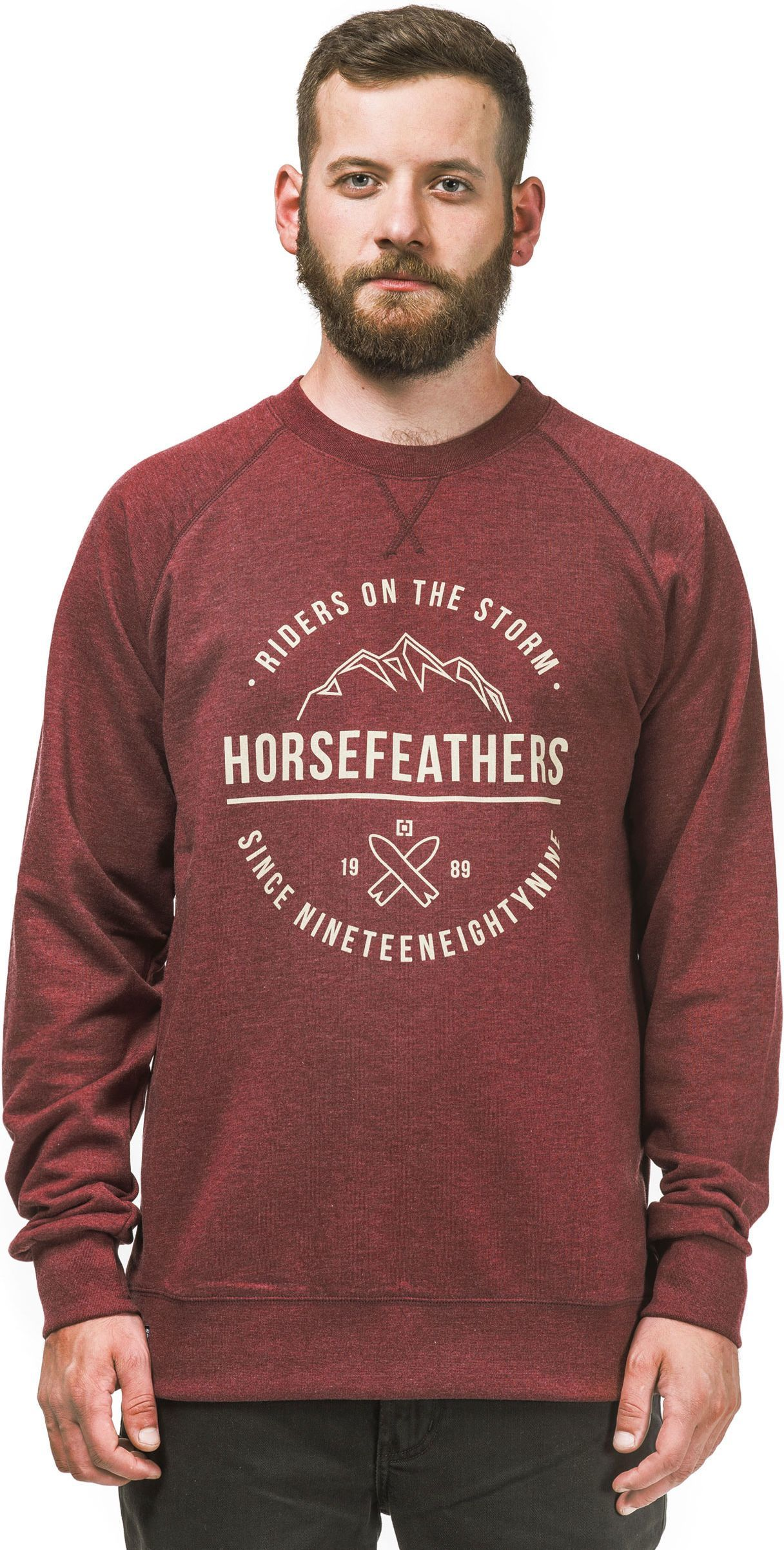 bluza męska HORSEFEATHERS TIMOTHY SWEATSHIRT (heather wine)