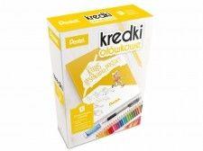 Kredki ołówkowe 24 kolory+ołówek automatyczny+gumka+książeczka kurs rysowania postaci /CB8-24+KURS/