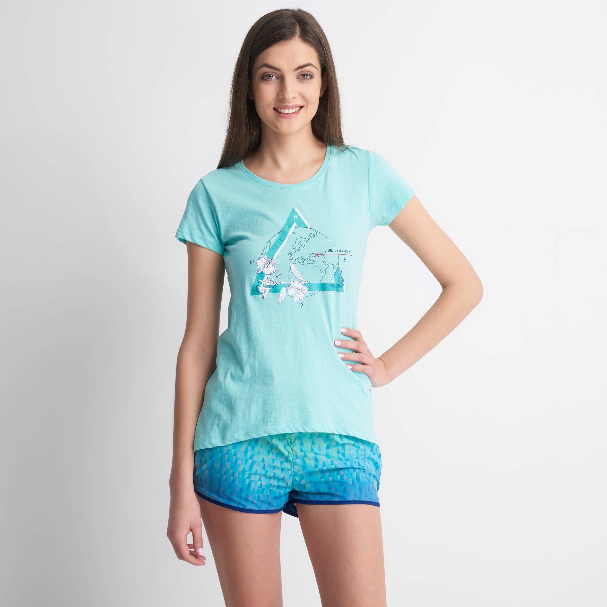 Elbrus damski T-shirt Summit Wo''s turkusowy Tanager Turquoise Melange M