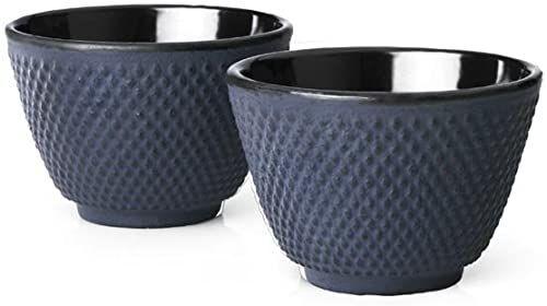 Bredemeijer Kubki do herbaty Jing, ciemnoniebieskie (zestaw 2), 2-częściowe