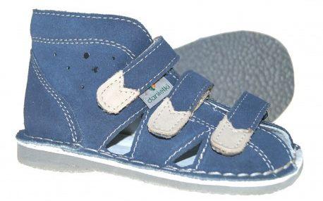 Danielki kapcie sandały profilaktyczne WZ S 104/114 jeans