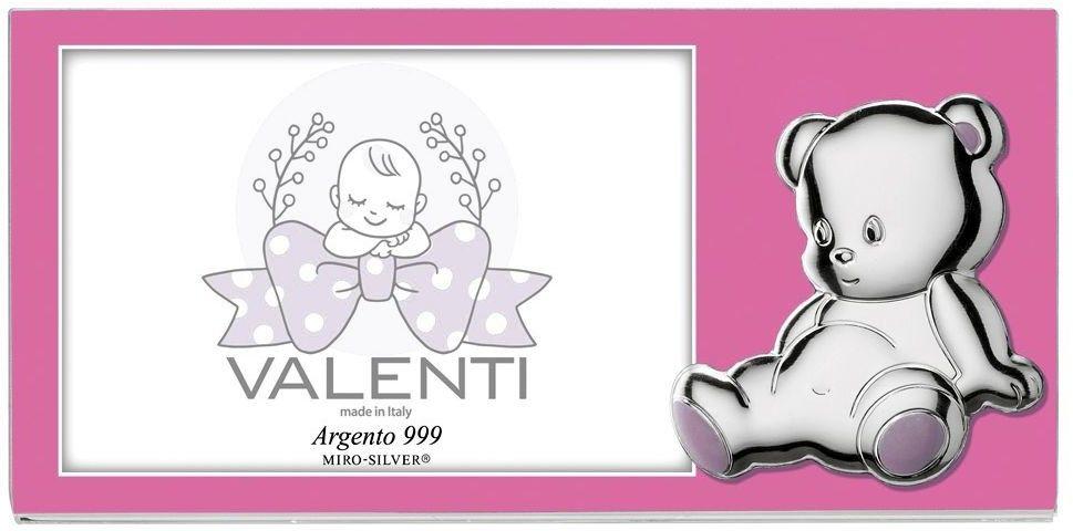 Ramka dziecięca na zdjęcie plexiglass miś Rozmiar: 13x9 cm Kolor: Różowy SKU: VL73204/3R