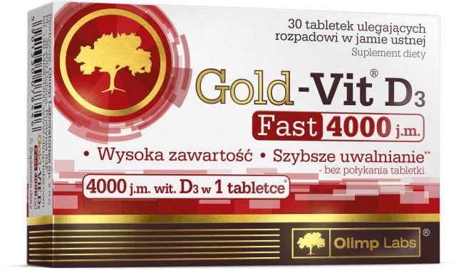 OLIMP Gold-Vit D3 FAST 4000 j.m. (Witamina D3) 30 Tabletek