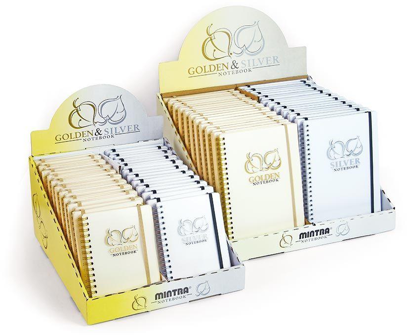 Kołonotatnik GOLDEN & SILVER - A5, 80 kartek, linie