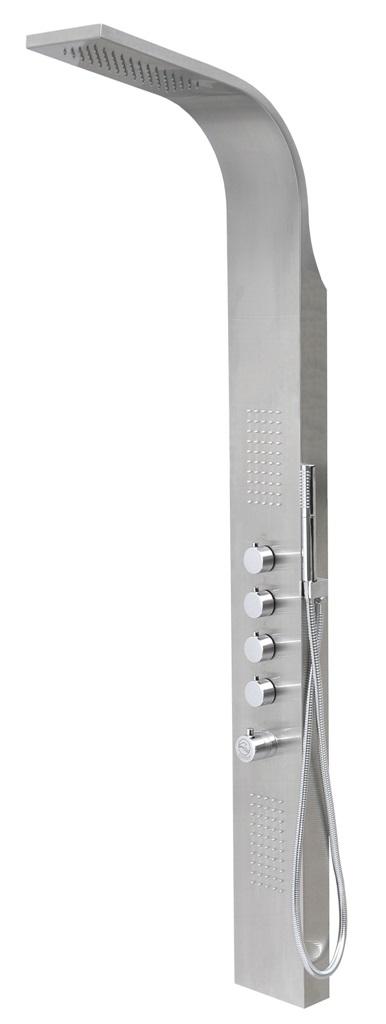 Corsan Samsara panel natryskowy z termostatem stal szczotkowana S-003T