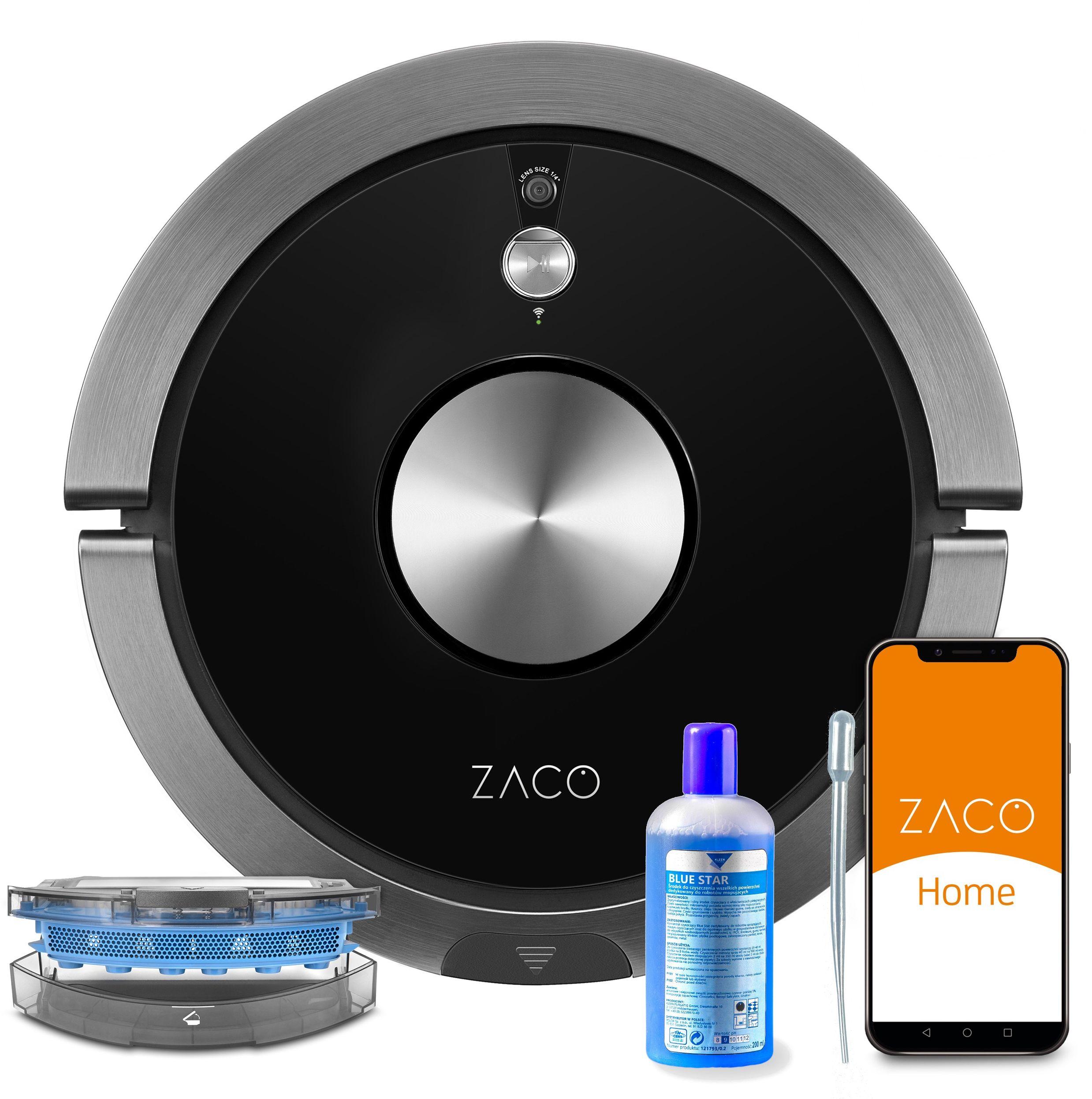 ZACO A9s PRO robot z zaawansowaną aplikacją, mopem i dokładną kamerą