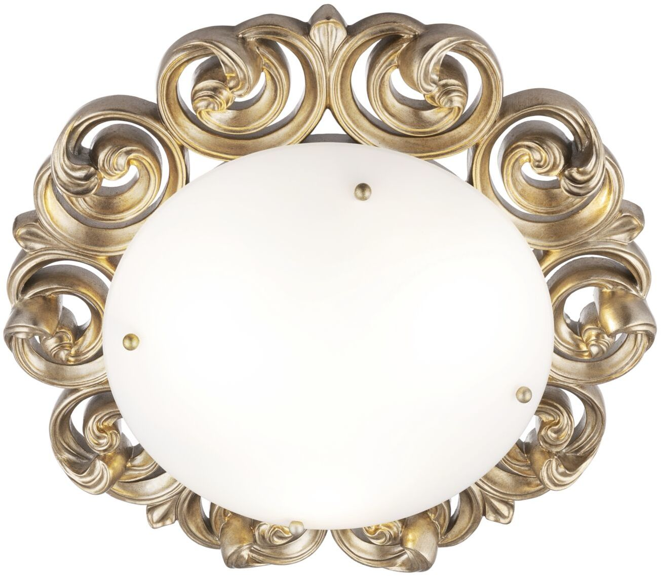 Maytoni Lantana H300-03-G plafon lampa sufitowa ramka z metalu i żywicy poliestrowej złota klosz biały matowe szkło 3xE14 40W 37 cm