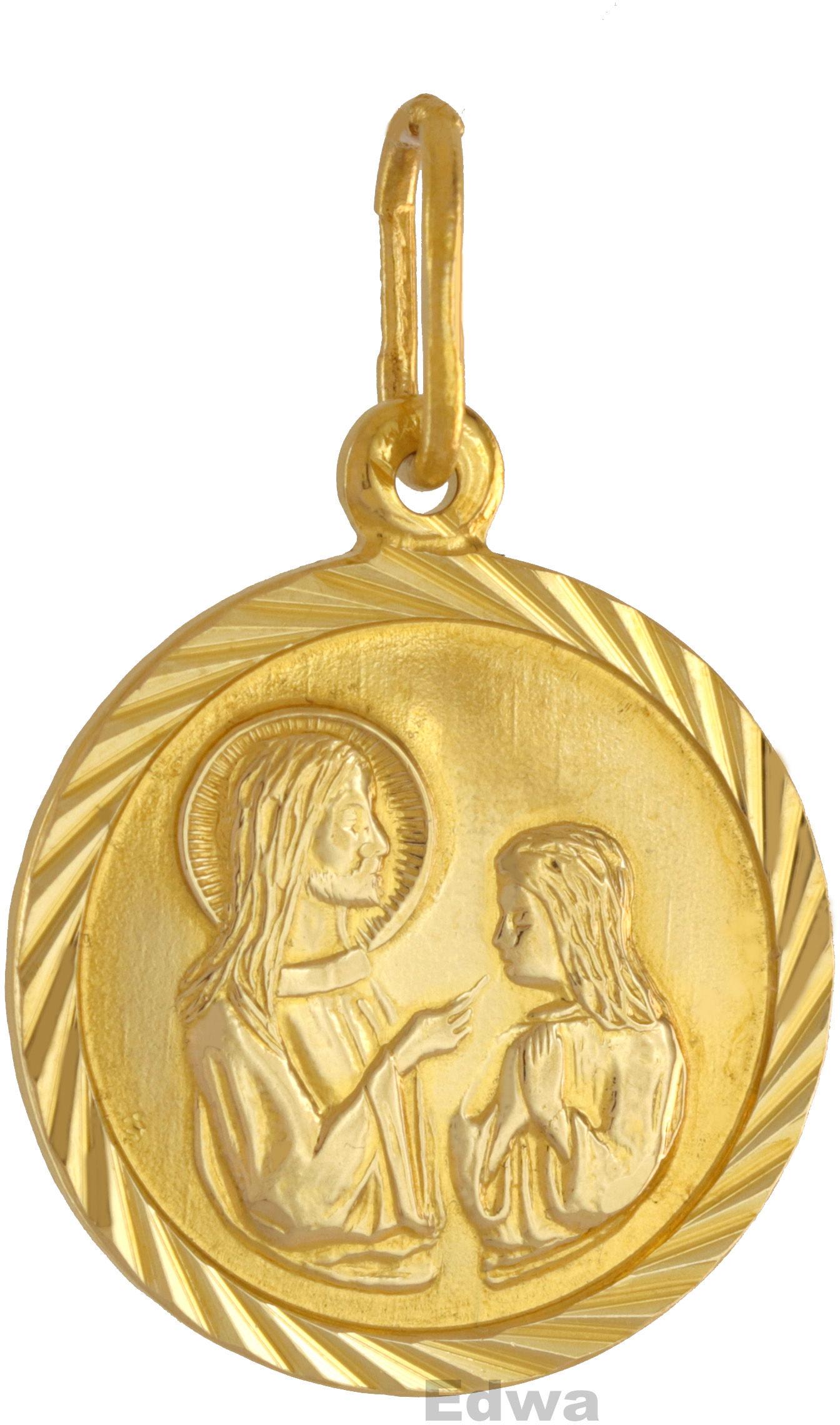 Zawieszka złota, Medalik komunijny pr.585