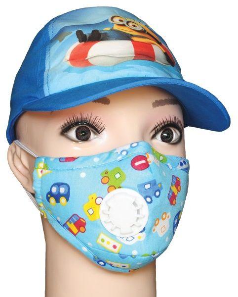 KIDS- maseczka dla dzieci- antysmogowa i antywirusowa autka