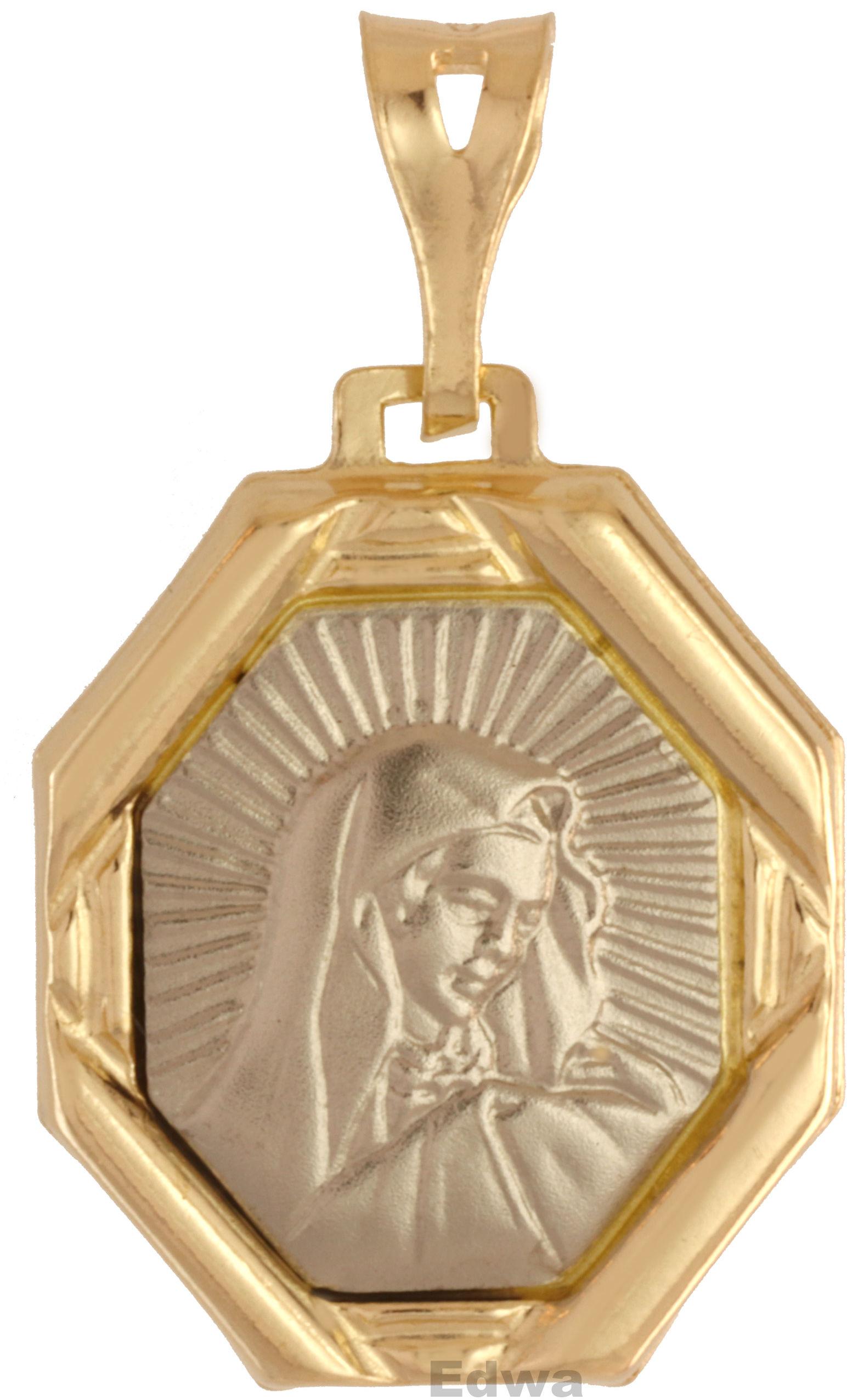 Zawieszka złota medalik z wizerunkiem Matki Boskiej pr.585