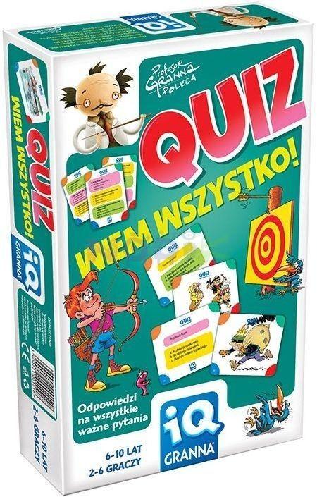 Granna IQ Gra Quiz Wiem Wszystko !