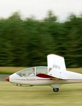 Lot szybowcem - start za wyciągarką  Piła