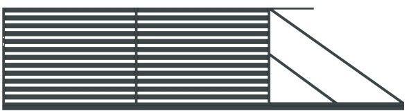 Brama przesuwna Polbram Steel Group Lara 400 x 154 cm prawa