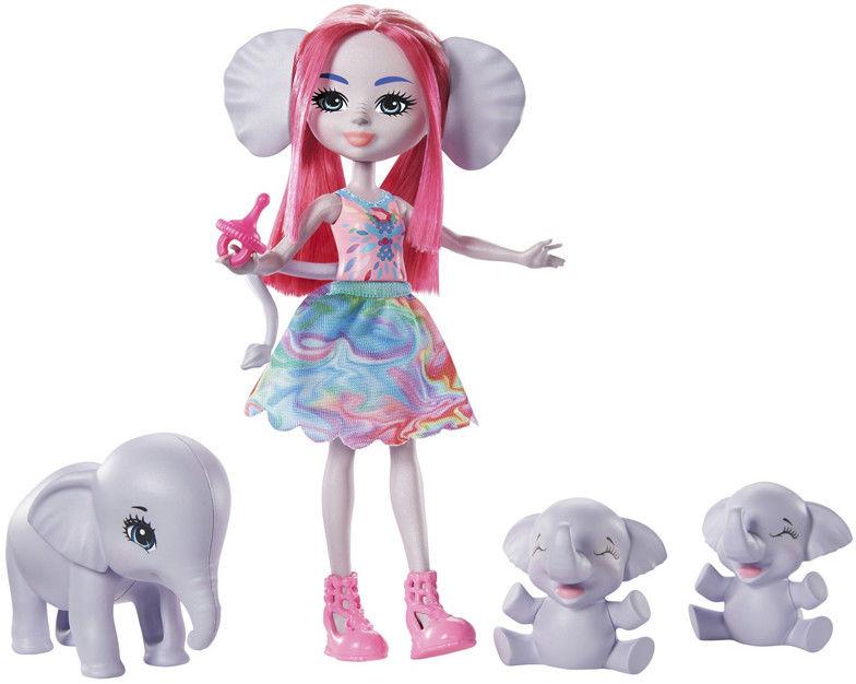 Enchantimals - Rodzina wielopaki Esmeralda i słonie GTM30