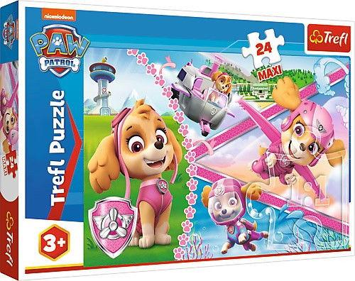 Puzzle 24 MAXI elementy Psi Patrol - Bohaterska Skye
