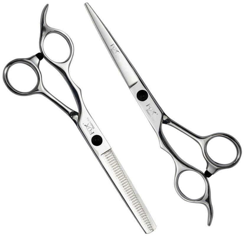 """Zestaw profesjonalne nożyczki + degażówki Fox Student Pro 5,5"""" dla praworęcznych"""