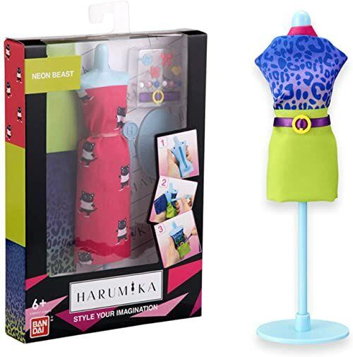 BANDAI Harumika  Designerski zestaw  Motyw Neon Beast  Zestaw do majsterkowania  Stwórz swoją własną modę  40412