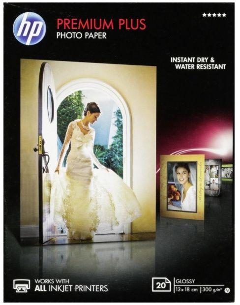 Papier 13 x 18cm HP Fotograficzny Photo Premium Plus, błyszczący (20 ark) 300g (CR676A)