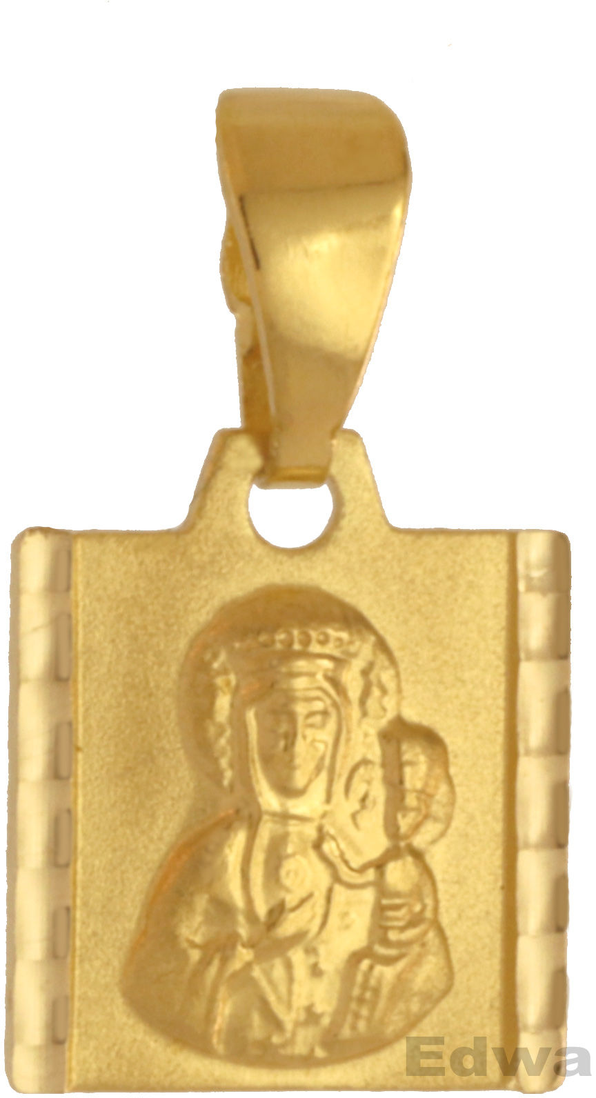Zawieszka Medalik złoty z wizerunkiem Matki Boskiej z dzieciątkiem pr.585