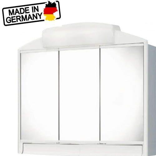 Szafka łazienkowa z lustrem RANO 59x51x16, 2x25W, biała