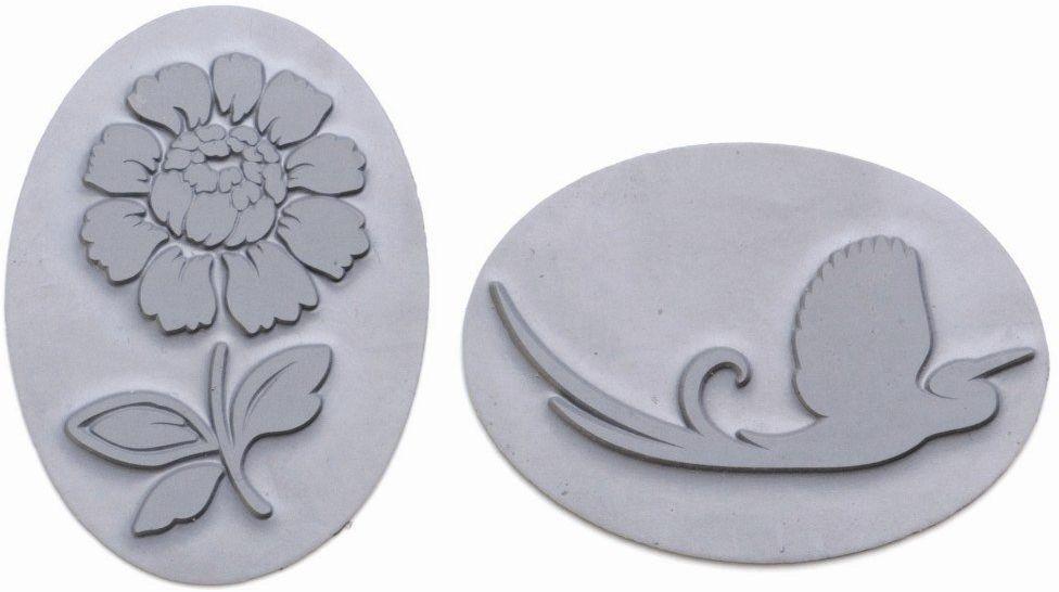 GLOREX Wkładka reliefowa 2 szt., tworzywo sztuczne, szara, 19 x 5,6 x 0,2 cm, 2 sztuki