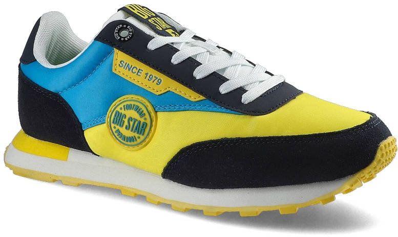 Sneakersy BIG STAR HH274525 Żółty/Niebieski