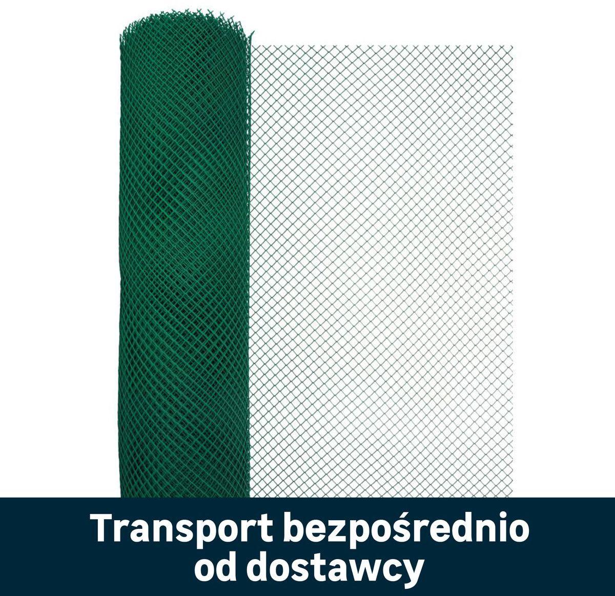 Siatka plastikowa 1.3 x 25 m zielona