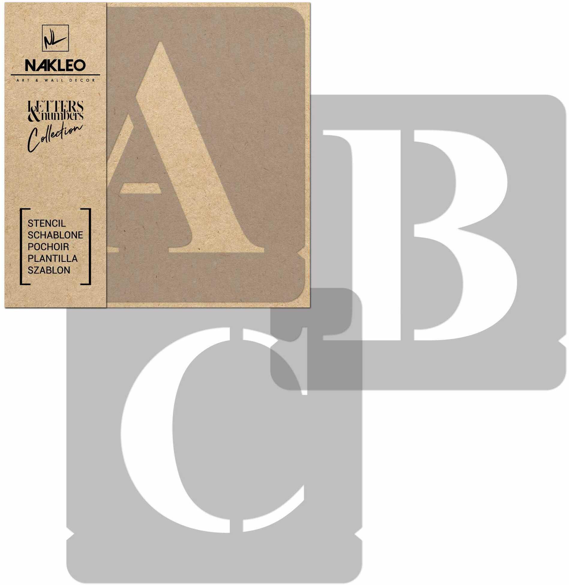 szablon malarski wielokrotny // litery i cyfry 250 mm // Times Roman Wielkie