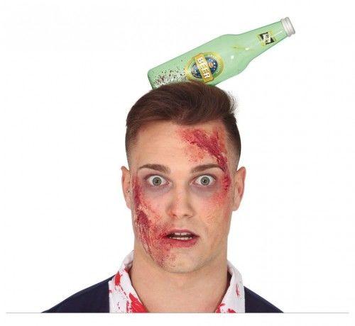 Opaska na Halloween, butelka rozbita na głowie