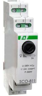 Ściemniacz przycisk szary 0-350VA 230V SCO-811