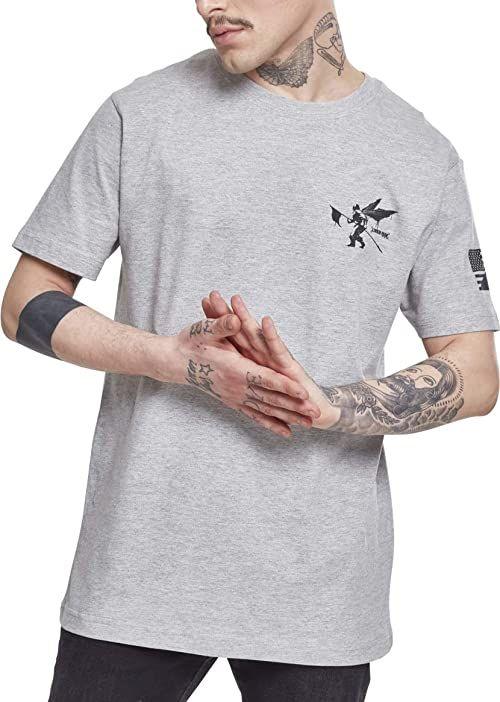 MERCHCODE Męski T-shirt Linkin Park Flag Tee T-Shirt, Heather Grey, S