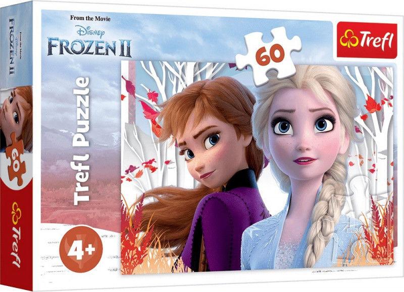Puzzle 60 elementów Kraina Lodu 2 - Zaczarowany świat Anny i Elsy