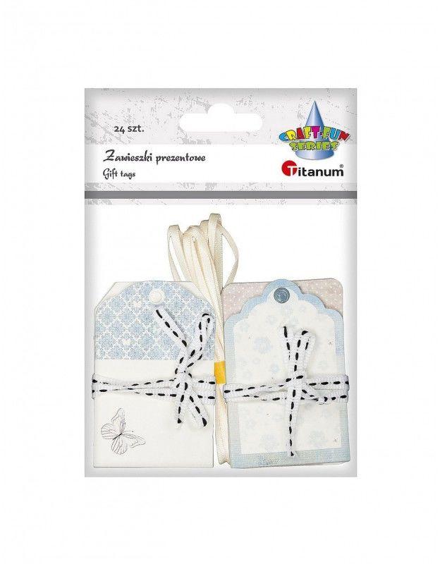 Zawieszki Bileciki do prezentów 24 szt. Titanum Craft-Fun Series 427621 731161