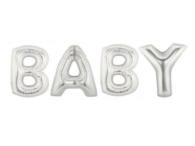 Napis Baby z balonów foliowych - 1 kpl.