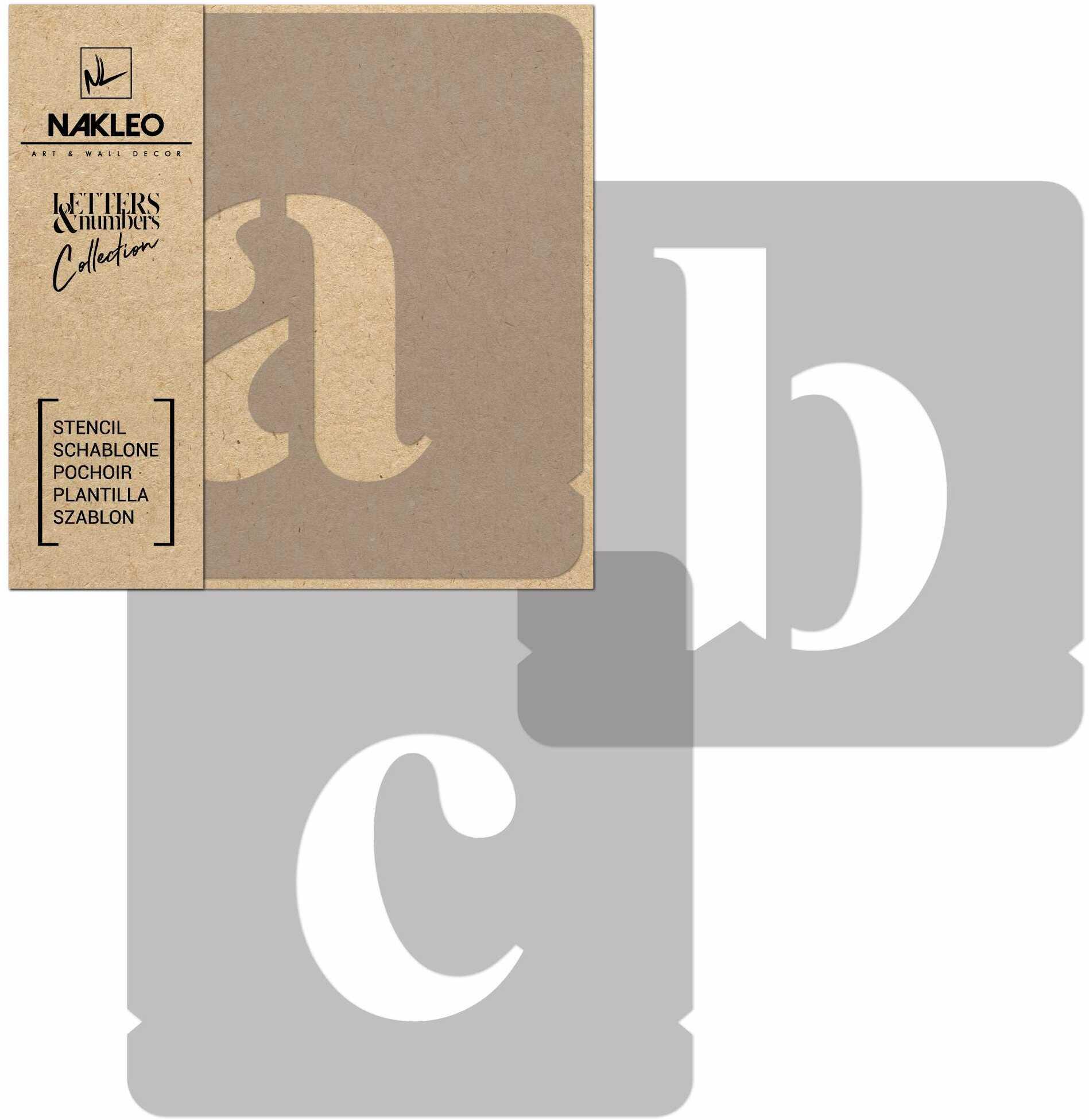 szablon malarski wielokrotny // litery i cyfry 50 mm // Times Roman Małe