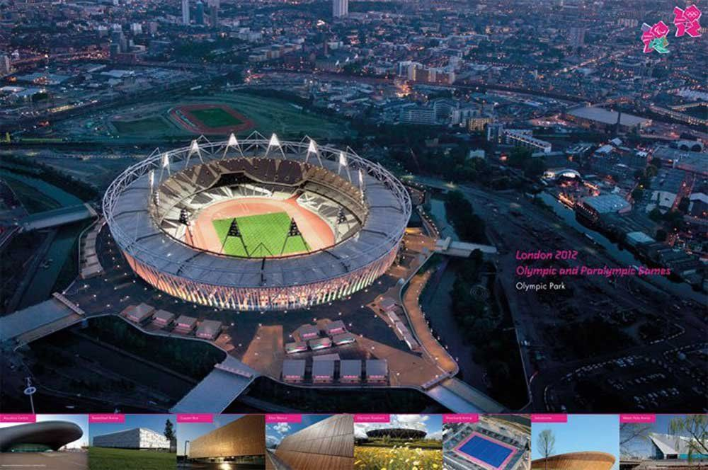 empireposter - Londyn 2012 - stadion - rozmiar (cm), ok. 91,5x61 - plakat, nowy -