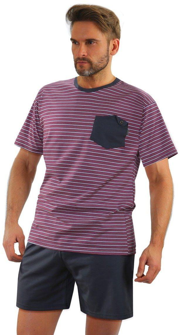 Bawełniana piżama męska z kieszonką Sesto Senso 05 K67E