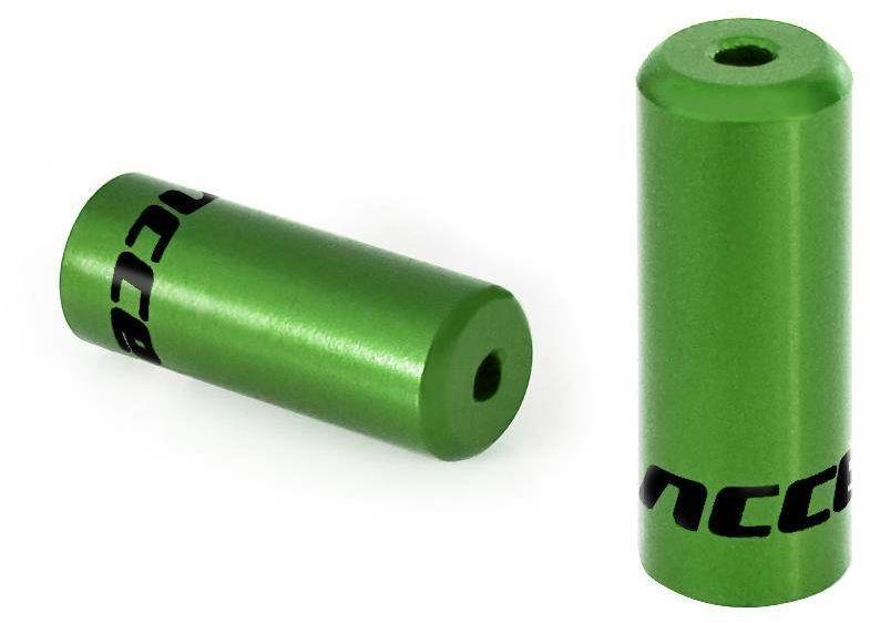 Końcówka pancerza hamulca 5 mm Accent w kolorze zielonym, 5 szt.