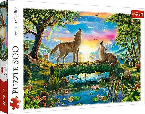 Puzzle 500 elementów - Wilcza Natura