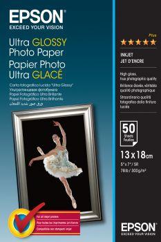 Papier 13x18 EPSON Ultra Glossy Photo Paper 300g/m (50ark) (C13S041944)