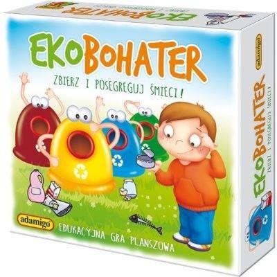Adamigo, gra edukacyjna Ekobohater: Zbierz i posegreguj śmieci