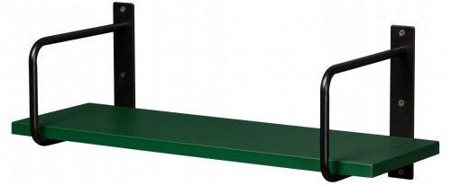 Półka łazienkowa zielona BELT 60cm + wsporniki, Gante Sensi