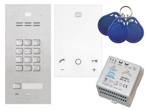 Domofon głośnomówiący ACO Familio z czytnikiem i zamkiem szyfrowym - Zestaw jednorodzinny podtynkowy