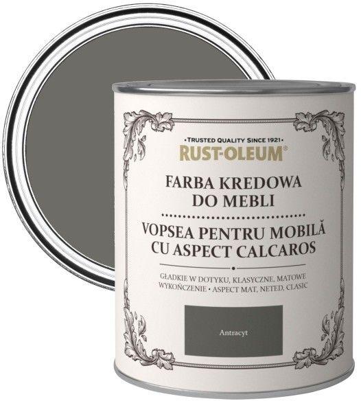 Farba kredowa do mebli Rust-Oleum antracyt 0,75 l