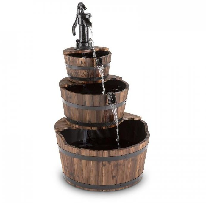 Blumfeldt Cascada 2G fontanna kaskadowa ogrodowa wodotrysk 12W 800l/h drewno