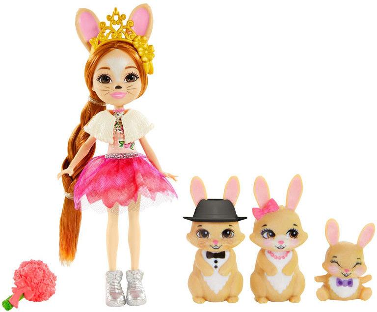 Enchantimals - Rodzina wielopaki Brystal Bunny i króliki GYJ08