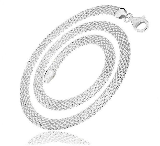 Elegancki srebrny łańcuszek naszyjnik bismarck tub 45cm srebro 925 TUB5