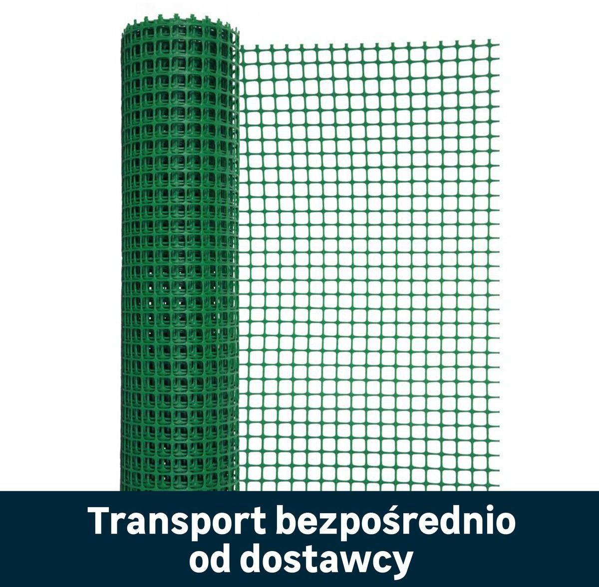 Siatka plastikowa 0.5 x 25 m zielona
