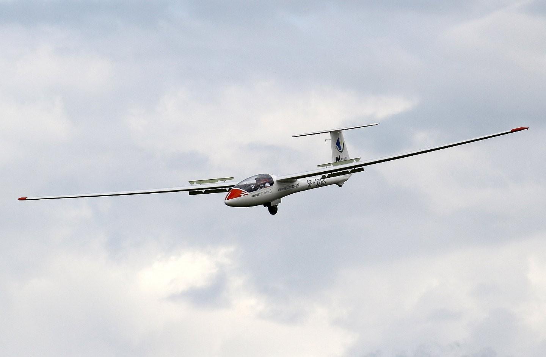 Lot szybowcem - start za wyciągarką - Olsztyn