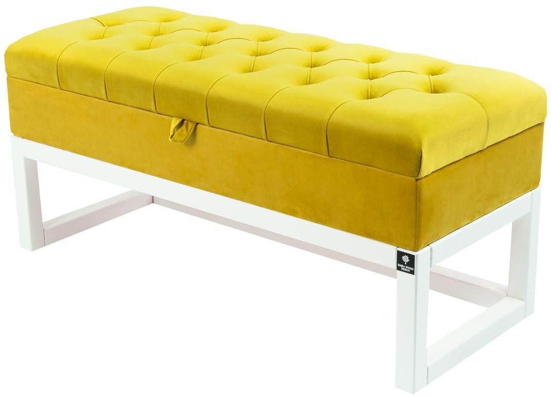 Kufer Pikowany CHESTERFIELD Cytrynowa Żółcień / Model QD-2 Rozmiary od 50 cm do 200 cm